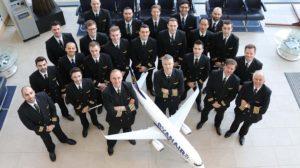 Uno de los grupos de pilotos contratados por Ryanair en 2018.