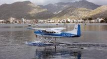 Uno de los hidroaviones participantes en el Spalsh in de 2019 organizado por la FAM en la base aérea de Pollensa.