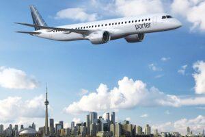 Aspecto que ofreceran los Embraer E195-E2 de Porter Airlines.