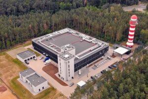 Vista aérea del centro de contingencia en Poznan (Polonia) de PANSA.Q
