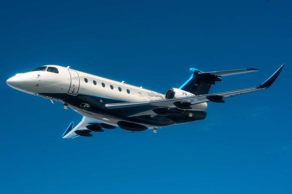 El diseño exterior de la familia Praetor no puede negar su herencia Embraer, En la foto el Praetor 600