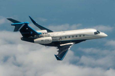 Emrbaer ya cuenta con cuatro aviones de la familia Praetor en vuelo en el momento de anunciar su desarrollo.