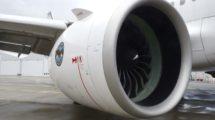 Motor Pratt & Whitney PW1100G en el prototipo del Airbus A321neo.