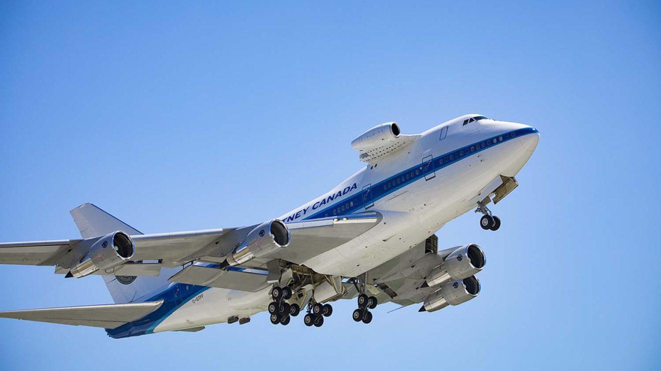 Pruebas del motor PW812D en el Boeing 747SP de Pratt & Whitney