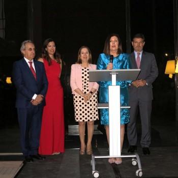 Carmen Librero durante su discurso de agradecimiento por el premio recibido.