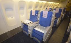 El Boeing 777 de Privilege cuenta con 28 asientos en clase Business.