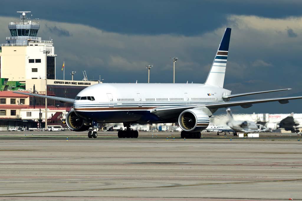 Privilege Style cuenta con dos Boeing 757, un Boeing 767, un Embraer ERJ-145 y este Boeing 777 en su flota.