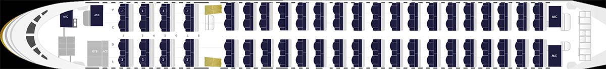 Nueva configuración de asientos en el Boeing 757 EC-ISY de Privilege Style.