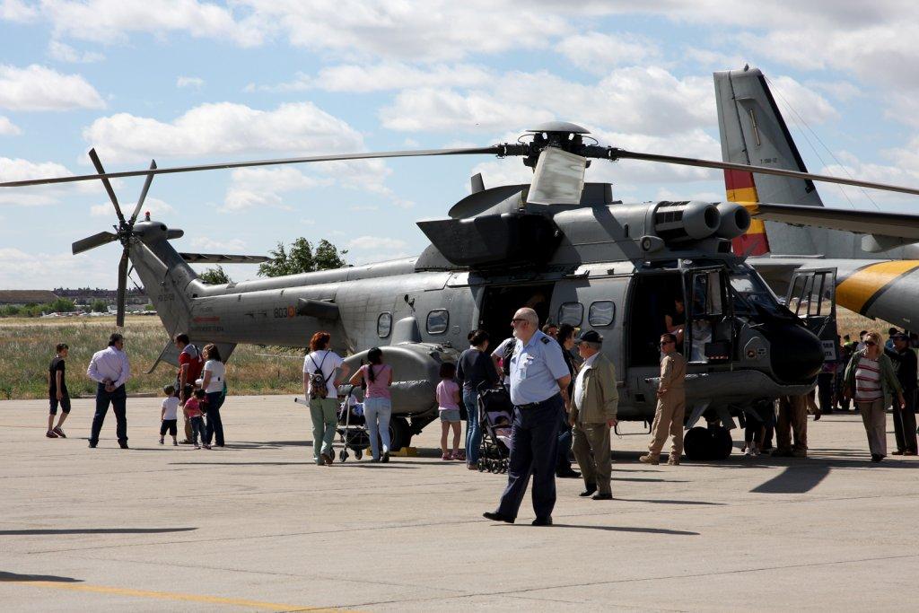 Jornada de puertas abiertas en la base aérea de Cuatro Vientos.