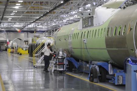 Cadena de montaje final del Q400 en Toronto