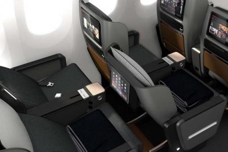 Nuevos asientos de business para los Airbus A380 de Qantas.