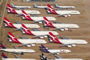 Ocho de los Airbus A380 de Qantas a la espera de mejores tiempos,