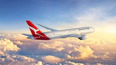 Ilustración del nuevo Boeing 787de Qantas.