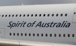 El slogan que Qantas pinta en sus aviones ha encontrado su sitio entre las cubiertas del Airbus A380