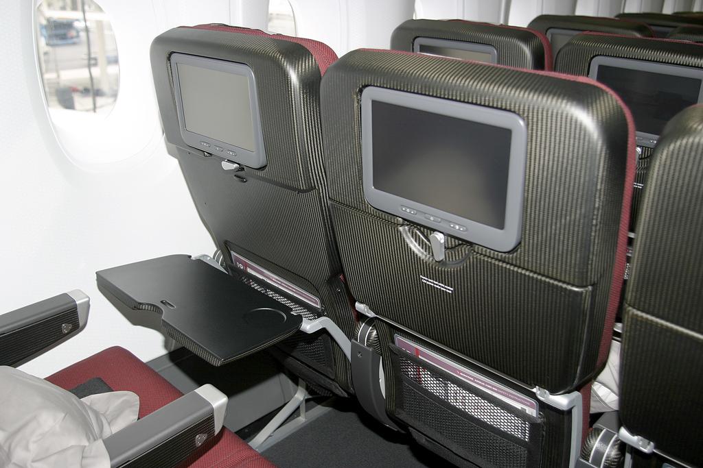 Asientos de clase turista del Airbus A380 de Qantas