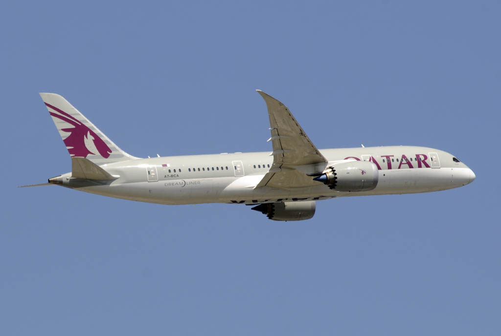 Boeing 787 de Qatar Airways.