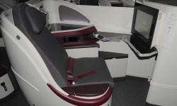 Qatar Airways estrenó nuevos asientos de business con la llegada de sus Boeing 787.