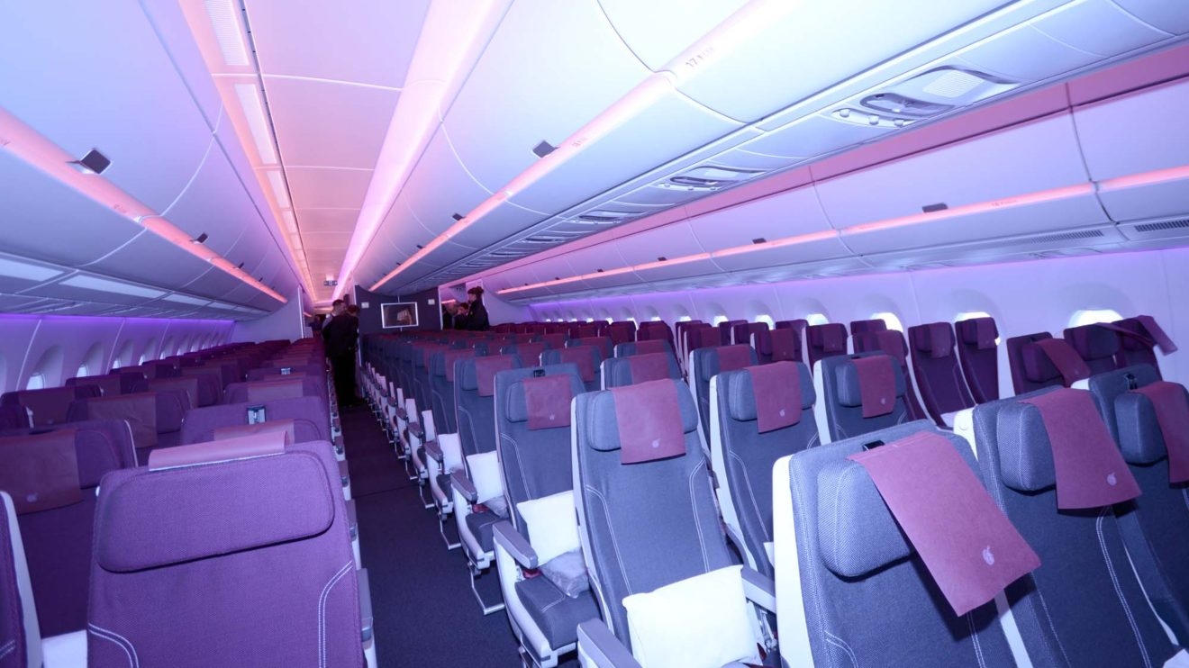 Qatar ha instalado en sus A350-1000 181 asientos de clase turista y 46 de business.