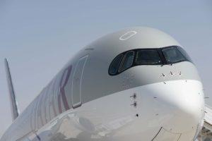 Qatar Airways opera a España con sus Airbus A330, A350, (en la foto) A340 y Boeing 777.