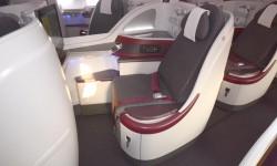 la cabina de Business va instalada en el piso superior del A380 sobre el ala.