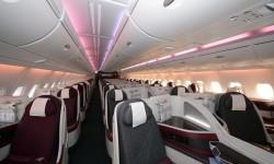 El A380 cuenta con 48 asientos de clase Business en la cubierta superior.