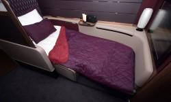 Qatar cuenta con ocho asientos cama tipo suite de primera clase en sus A380.