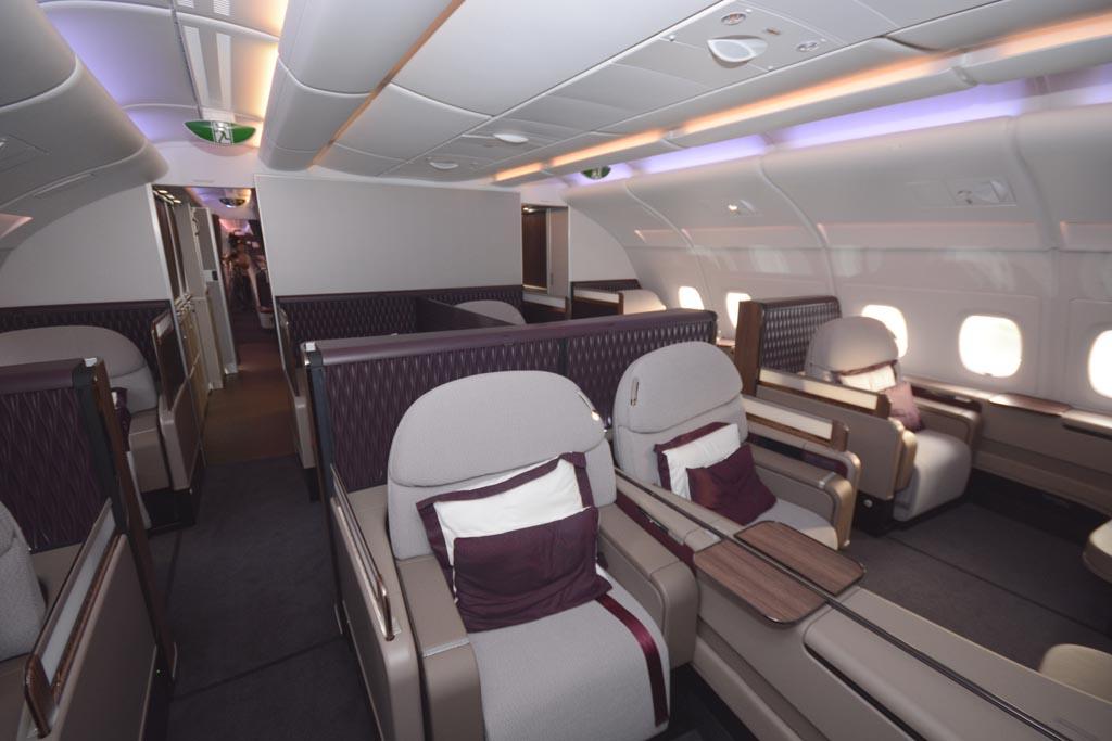 El A380 es uno de los pocos aviones en los que Qatar Airways sigue apostando por ofrecer el servicio de Primera Clase