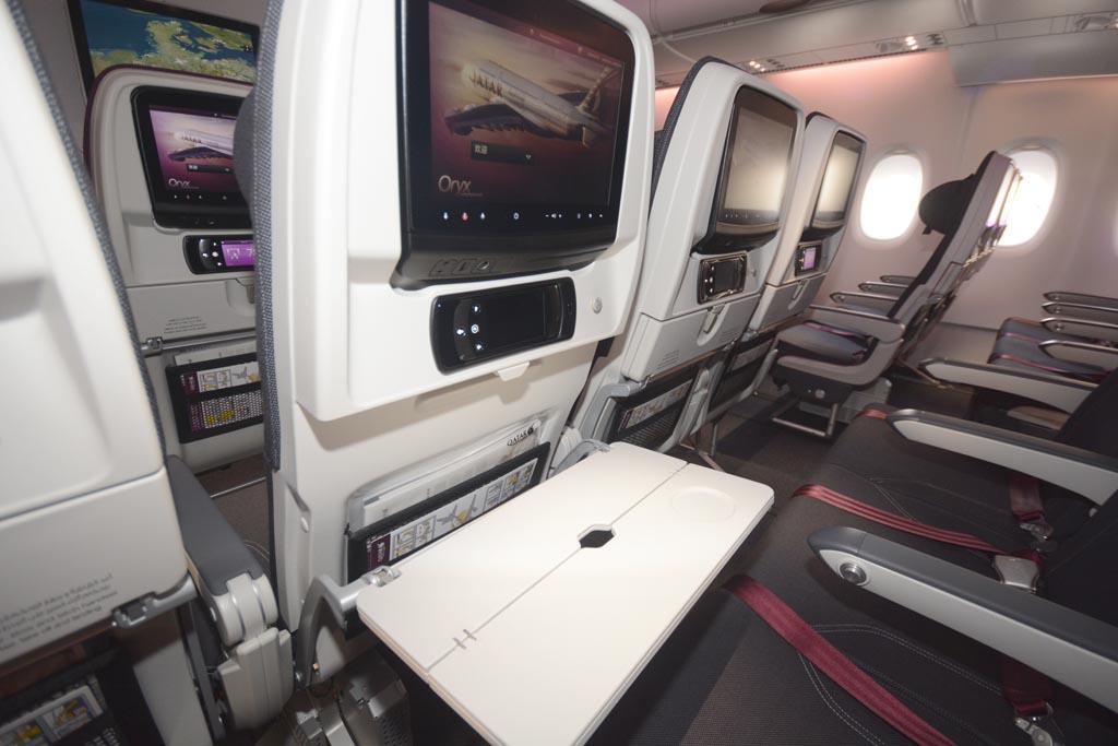 La cubierta principal del A380 de Qatar Airways está ocupada por 409 asientos de clase turista.