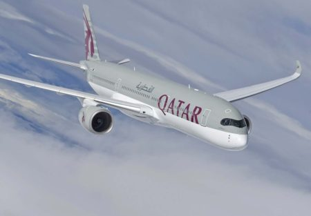 Airbus A350 de Qatar Airways.