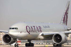 Boeing 777-200LR con el que Qatar Airways operará este año 2020 la ruta de Málaga a Doha.
