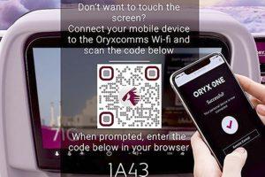 En algunos aviones de Qatar Airways se podrá interactuar con el sistema de entretenimiento desde un dispositivo personal.