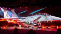 Ceremonia de presentación de los Boeing F-15QA de a Fuerza Aérea de Qatar.