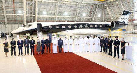 Los máximos dirigentes aeronáuticos de Qatar pudieron visitar la próxima incorporación a la flota de Qatar Executive.