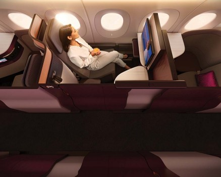 QSuite individual de Qatar Airways.