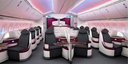 Clase ejecutiva del Boeing 787 de Qatar Airways