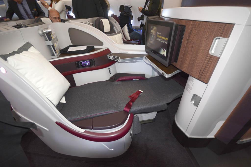 Los asientos de Business debutaron primero en el B-787 de Qatar Airways por el retraso en las entregas de los A350 y A380.