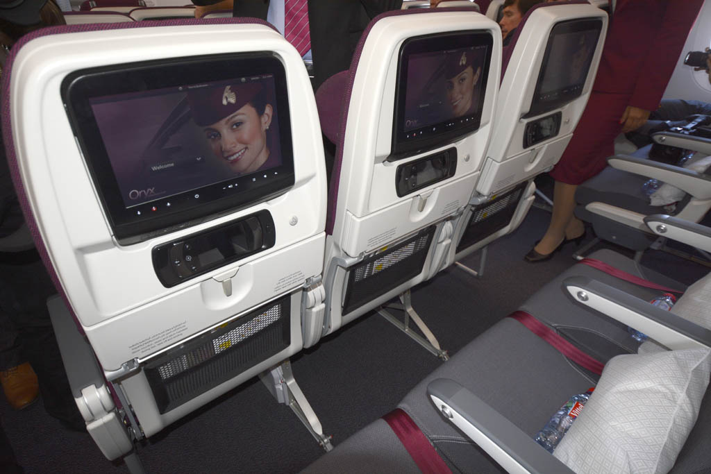 Qatar se ha decantado por una configuración de filas de nueve asientos para su turista en el A350.