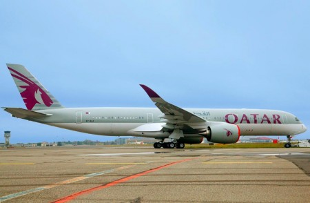 Airbus A350-900 de Qatar Airways.