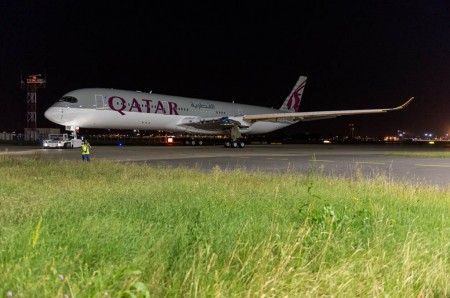 Primer Airbus A350 de Qatar Airways.