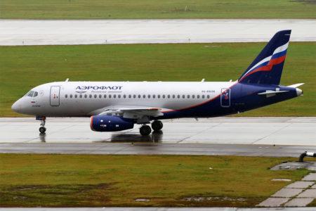 El SSJ100 RA-89098 poco después de su entrega a Aeroflot.