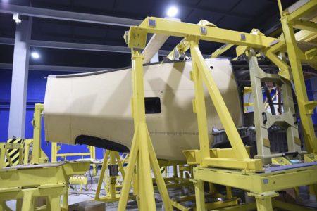 Paneles de unión del fuselaje con el botalón de cola del Racer.