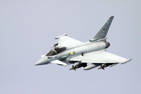 Typhoon de la RAF sobre Libia