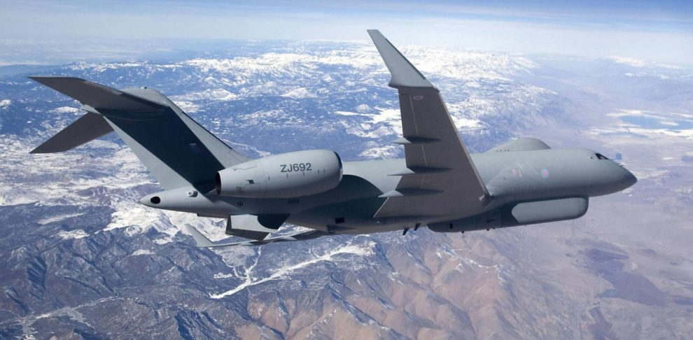 Global Express modificado por Raytheon como avión electrónico para la RAF.