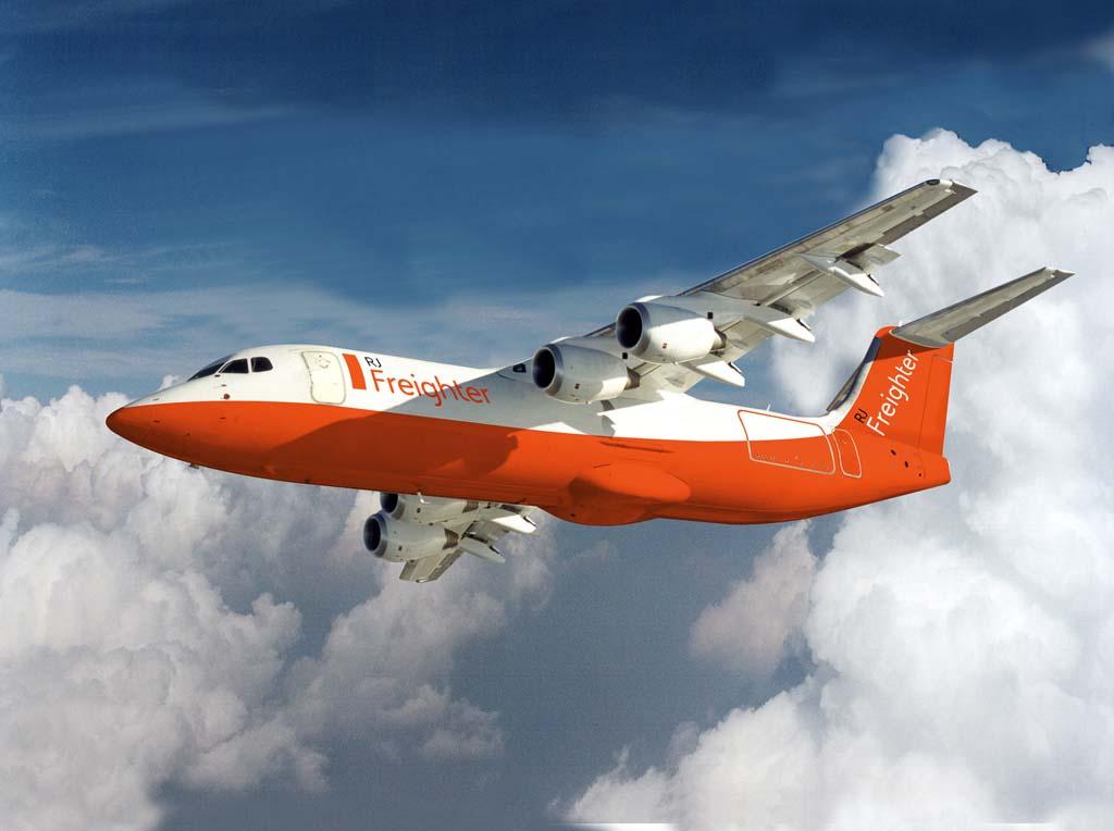 El AVRO RJ de carga tendrá una mayor capacidad de carga que su homólogo el BAe 146 QT.