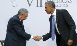 Raúl Castro y Barak Obama durante la Cumbre de las Américas.