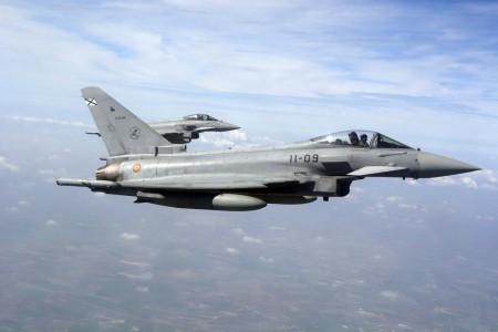 Los ejercicios Red Flag 17/02 son los primeros para los Eurofighter del Ejército del Aire español.