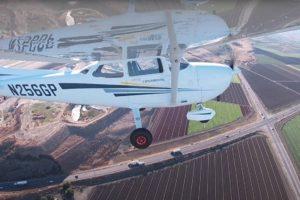 Pruebas de Reliable Robotics de vuelo sin piloto de un Cessna 172.