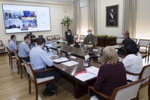 Un momento de la reunión de secretarios de Estado de Defensa.