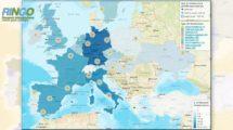 Mapa online generado por el proyectyo RINGO del catálogo de centros tebcnológicos aeronáuticos en Europa.
