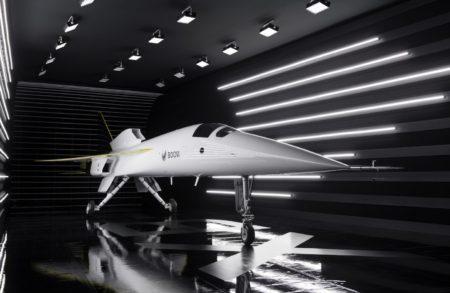 El demostrador tecnológico XB-1 durante su presentación.